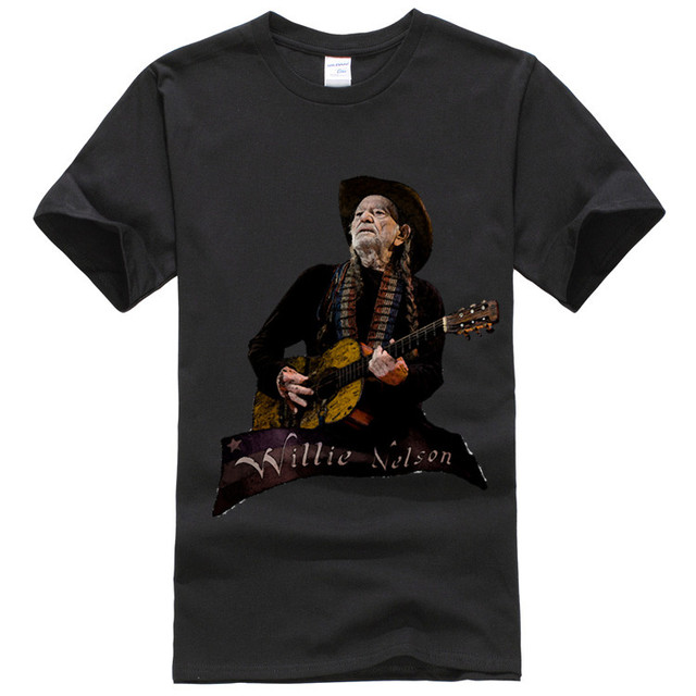 Top Quality Willie Nelson Tattoo T-shirt mens Casual o neck cotton short sleeves homme new design tees tops