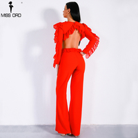 Missord 2017 Sexy Autumn Winter O Neck Long Sleeve Backless Jumpsuit FT8804