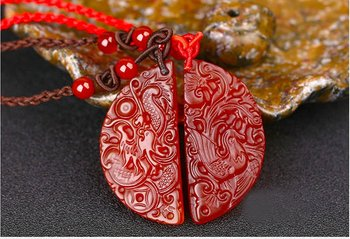 Lovers Pair Fine Jewelry Red Agate Necklace3