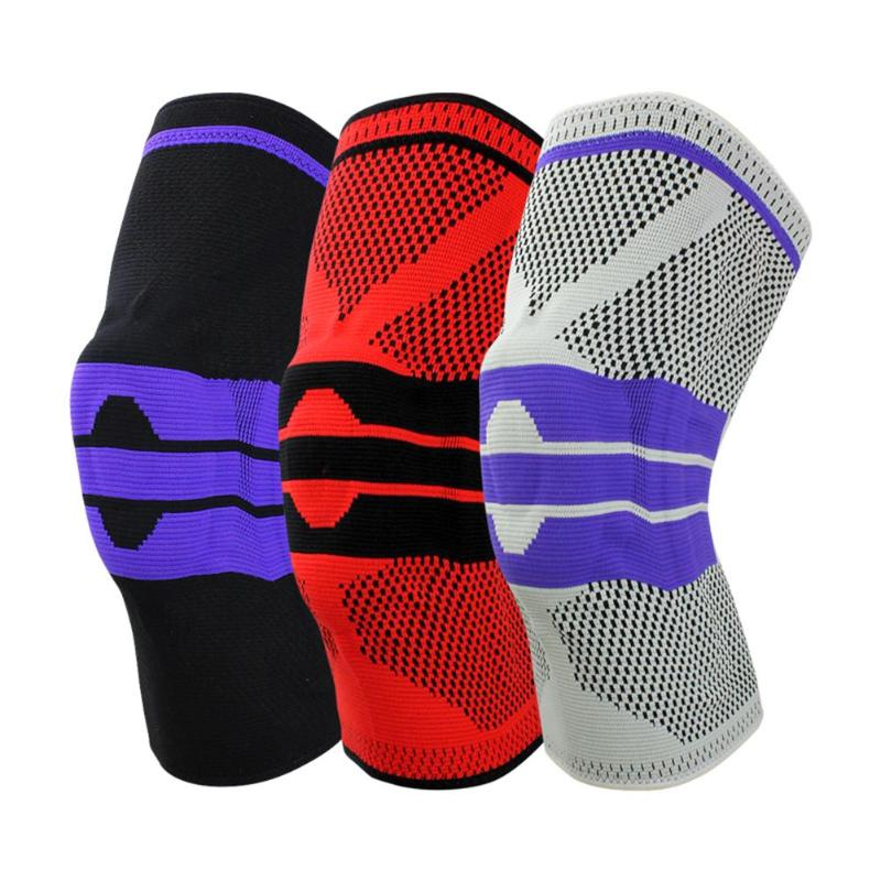1PC Cycling Knee Support Fitness Running Braces Elastic Nylon Sport Compression Knee Pad Sleeve for Basketball Volleyball