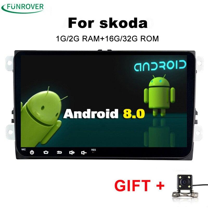 2018 Sale For Skoda octavia Android 2 Din font b Car b font Dvd Gps Multimedia