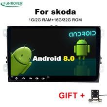 2018 продажа для Skoda octavia Android 2 Din автомобильный Dvd Gps Мультимедиа головного устройства проигрыватель для Volkswagen Vw Golf 5 6 ПОЛО Passat Tiguan