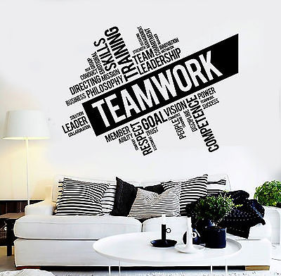 Vinyl Wall Decal Inspirational Teamwork Success Office Wall Decor Worker  Stickers Study Unique DIY Design E543