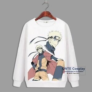 Image 3 - Japon Anime Naruto Cosplay sweats à capuche à manches longues Uchiha Sasuke imprimer polaire hauts Hatake Kakashi décontracté hiver sweats