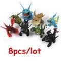 8 unids/set Anime Cómo Entrenar a Tu Dragón 2 Figura de Acción juguetes Dragón Nadder Deadly Desdentado Furia Nocturna Gronckle Juguetes para niños