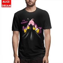 Majin Buu T shirt Casual 3D Print Dragon ball Tee Graphic Print Tee Pure Cotton Plus Size Homme Tee Shirt plus mixed print high low tee