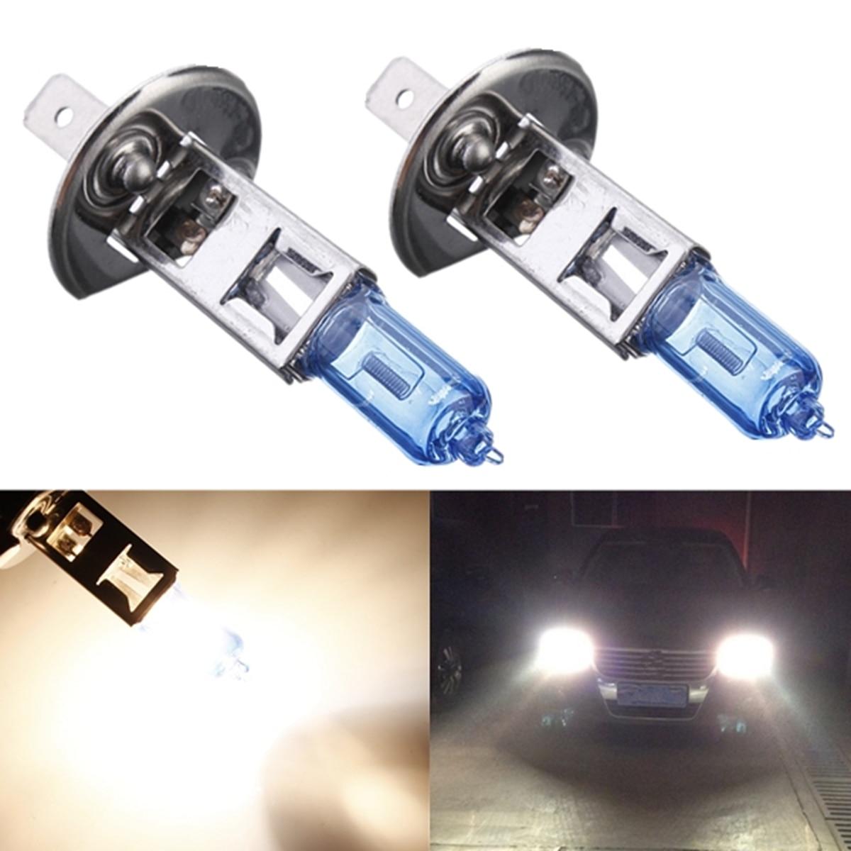 Подробнее о Qook 2pcs H1 55W Headlight Bulb Lamp Halogen Fog Lights Auto Car 12V Super White 5000K Car Styling 2pcs lot h1 55w xenon halogen super white 5000k auto car headlight bulb lamp fog lights 12v car styling universal