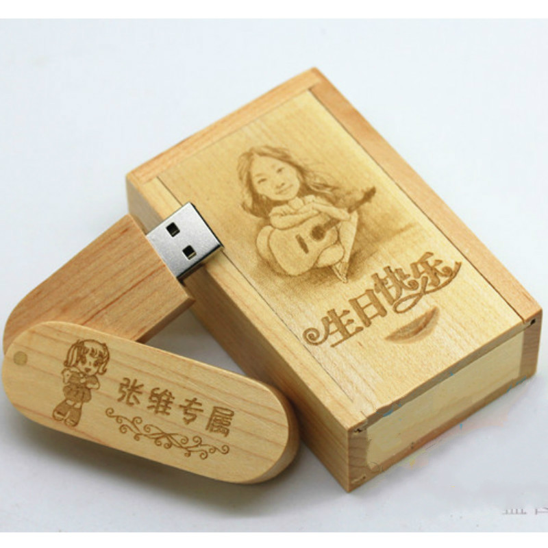 Kingdisk Custom LOGO Wooden personality creative gift customized wood USB flash drive disk USB 4G 8G 16G 32G 20 pics free logo|flash drive disk|custom wooden usb|wooden usb - title=