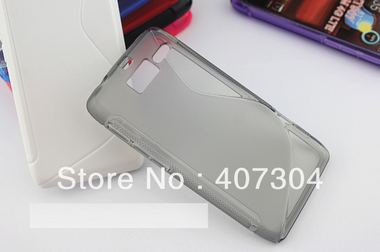 S line wave TPU gel soft case cover For Motorola RAZR i XT890 Free Shipping