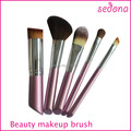 5PCS Pink Cute Angel handle Professional Makeup Brush Set pinceis kit  brush in pony mix nylon brush for  travel