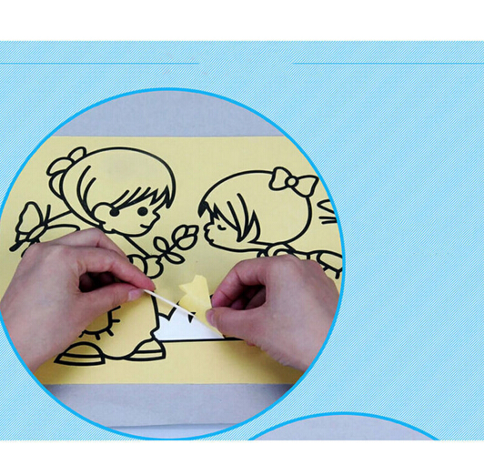 10PCSLOT-12X16CM-Children-Kids-Drawing-Toys-Sand-Painting-Pictures-Kid-DIY-Crafts-Education-Toy-Pattern-Random-3