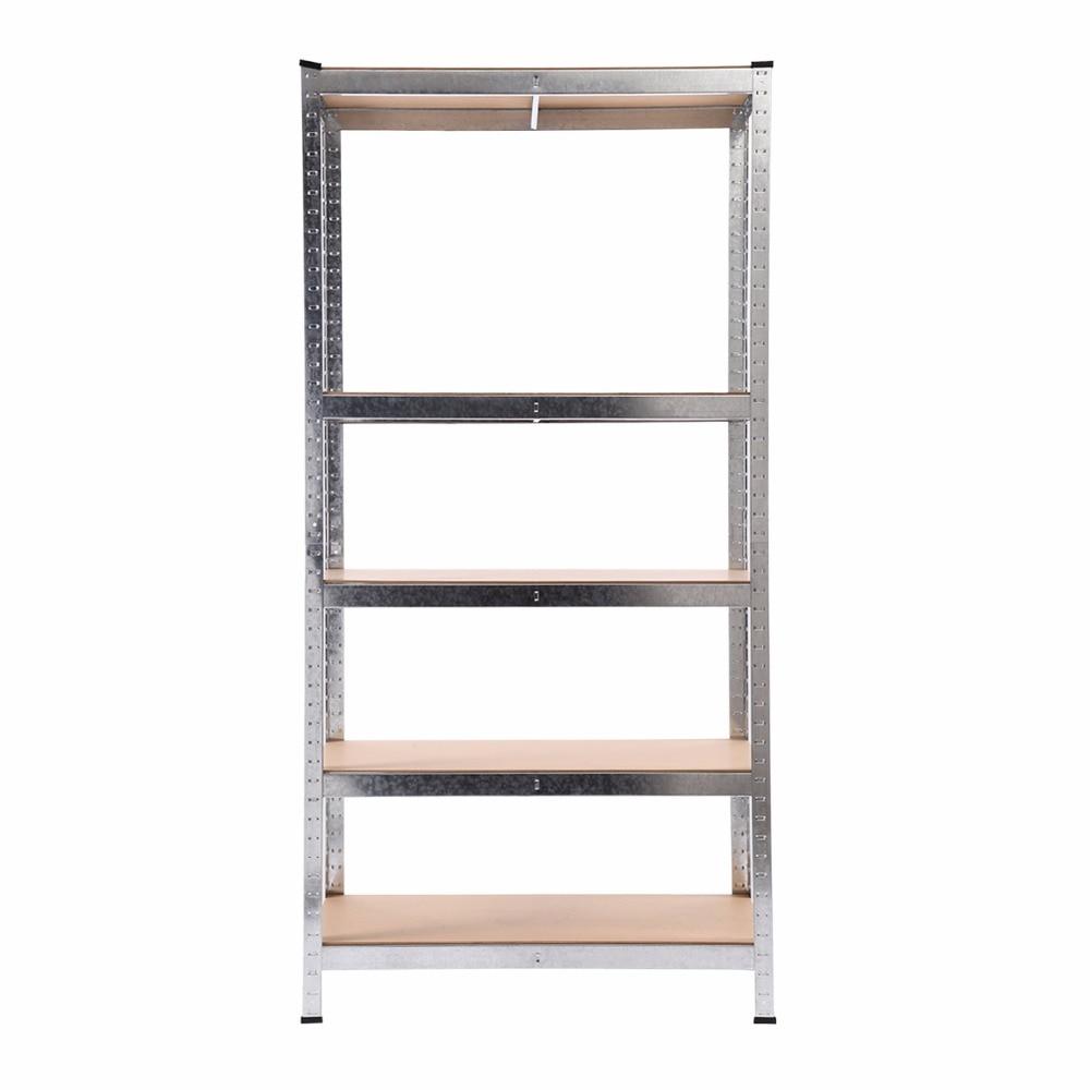 5 Level Adjustable Heavy Duty Shelves Unit Garage Shelf Steel Metal Storage Rack