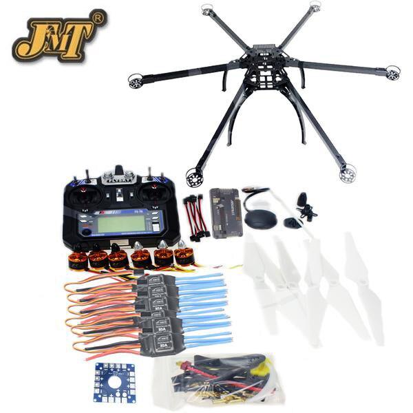 JMT a Sei Assi Hexacopter Smontato GPS Drone Kit con Flysky FS-i6 6CH 2.4g TX e RX APM 2.8 multicopter Controllore di Volo