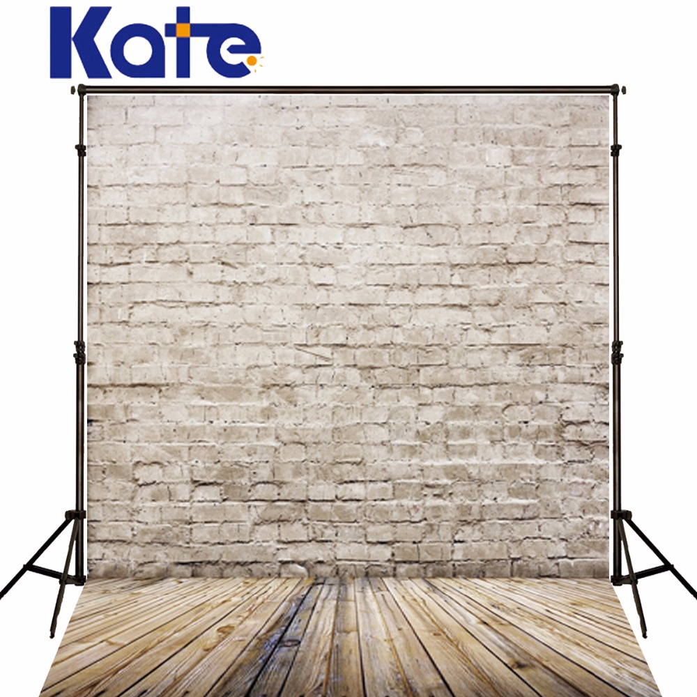 Newborn Photography Props Brick Wall Wood Floor Photo Children Photo White Background Wooden Fund For Studio Diary Kate Backdrop  недорого
