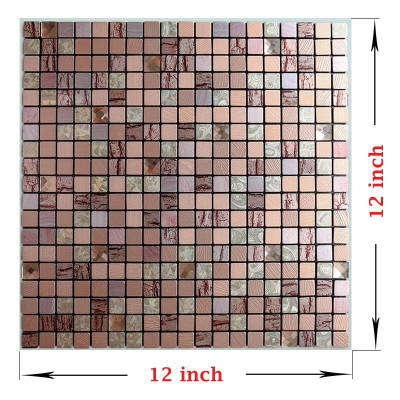 Free Shipping Nordic Style 3D Mosaic Toilet Sticker Waterproof Metal Home Stickers 12 Inch Adesivi Parete For Kitchen 4PCS A Set in Wall Stickers from Home Garden