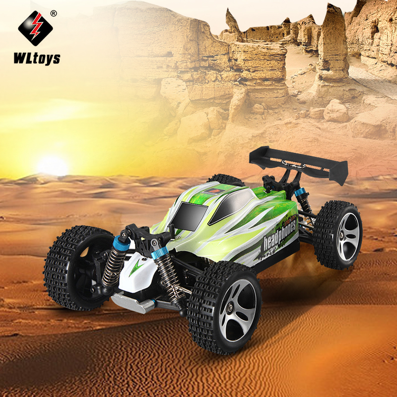 WLTOYS A959-B 1/18 4WD Off-road Vehicle 2.4G 540 Brushed Motor Smart Tail Design 70km/h High Speed RC Car Toy EU Plug 2017 new arrival a333 1 12 2wd 35km h high speed off road rc car with 390 brushed motor dirt bike toys 10 mins play time
