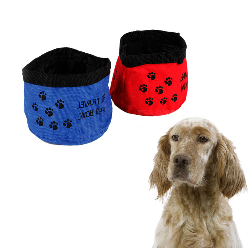 Portable Dog Pet Travel Collapsible Food Water Bowls Pets: New Fashion 1PC Folding Pet Dog Dish Feeders Cat