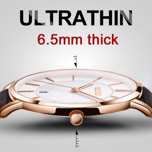 Image 3 - Olevs relógios masculinos marca de luxo esporte relógio de pulso à prova d30 água 30m ultrafinos relógio de quartzo data relógio masculino relógios de couro