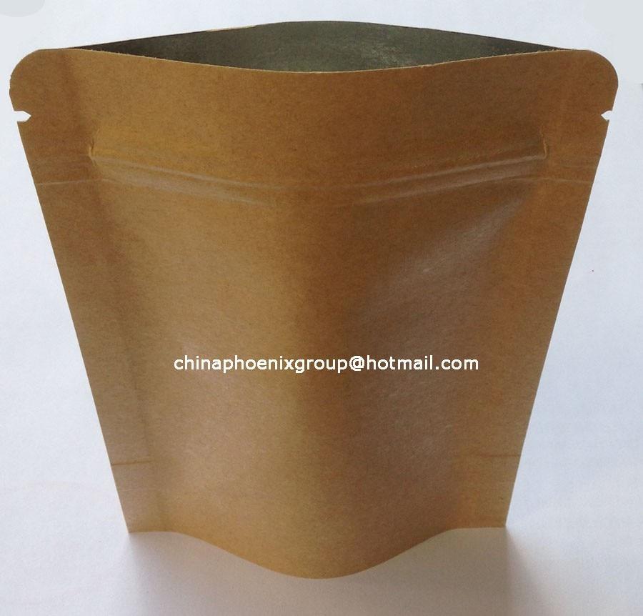 dc439ff1e Nº100 unids 9*14 cm (3.54 * 5.51) bolsa de papel con cierre/foil ...