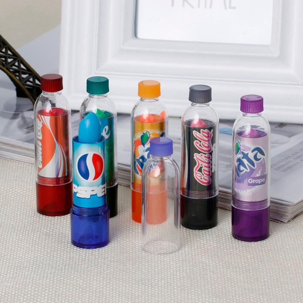 6pcs / Set Rainbow Color Changeable Cute Moisturizer Lip Balm Cola Lipstick Woman Beauty Makeup 4