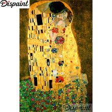 Dispaint Full Square/Round Drill 5D DIY Diamond Painting Oil painting couple Embroidery Cross Stitch 3D Home Decor A11202