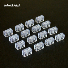 Smartable bloques de construcción transparentes para niños, 1x2, juguetes creativos DIY para niños, compatibles con las principales marcas 3004 120, unids/lote
