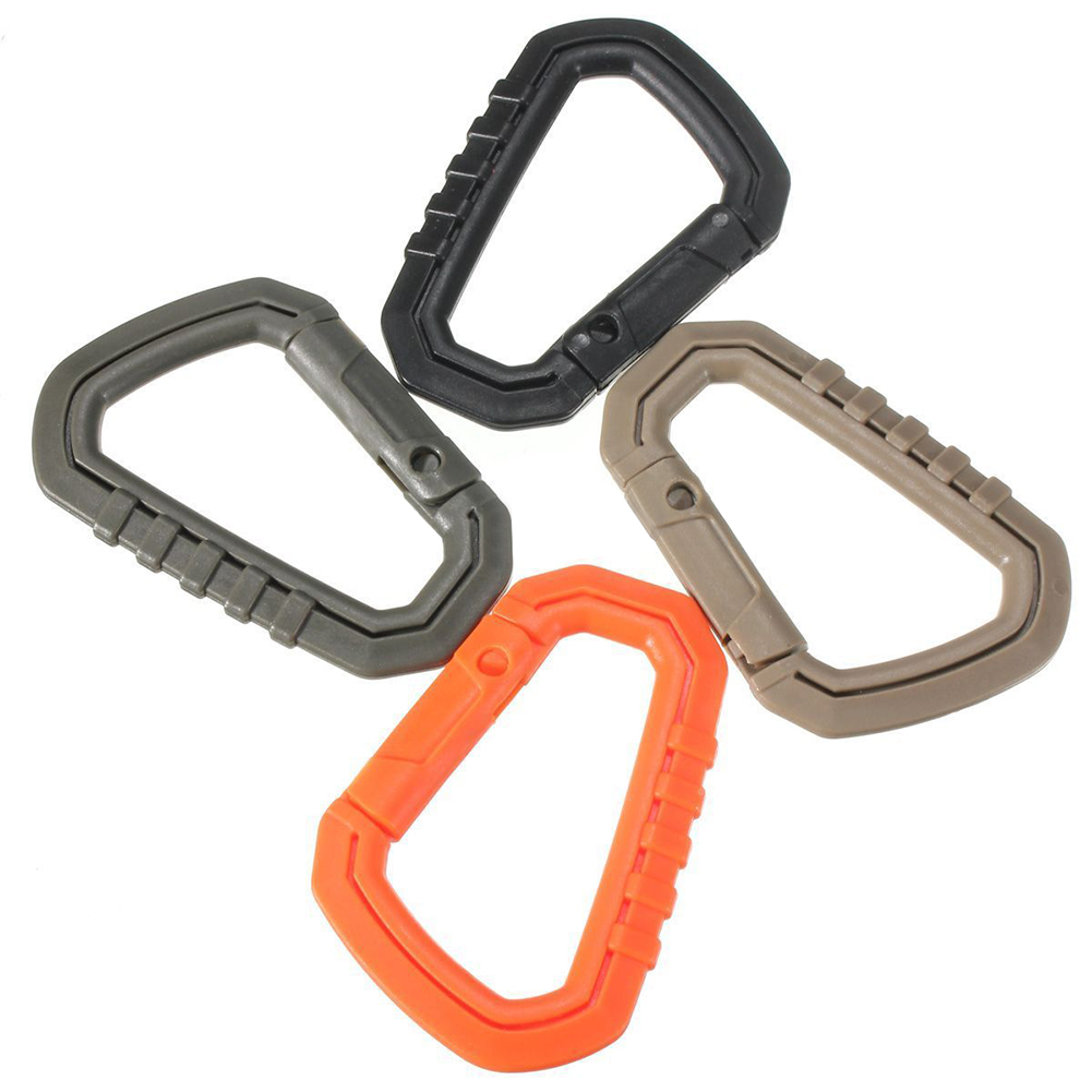 Wholesale! 4pcs Steel Carabiner D-Ring Hook Key Chain Clip Camping Buckle Snap