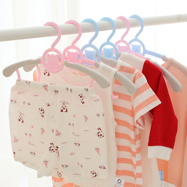 children telescopic clothes rack hanging clothes hanger baby clothes