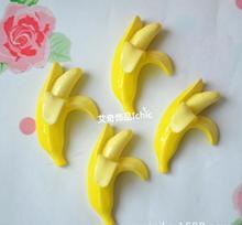 Freeshipping Plano de volta Resinas acessórios do telefone de beleza Móvel resina de Banana Artificial resina diy materiais 50 pçs/lote