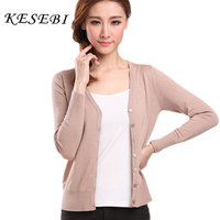 2015 New Autumn Fall European Women S V Neck Solid Color Knit Large Size Slim Single