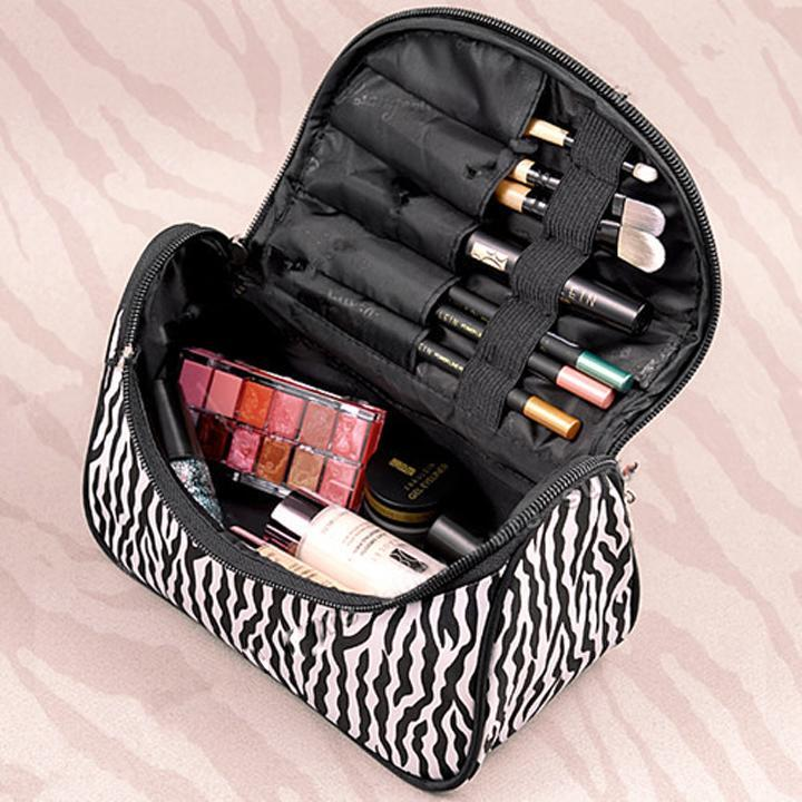 Lady Cosmetic Nail Art Tool Bag Makeup Case Toiletry Holder Storage Zebra Due The Difference Between Zebras