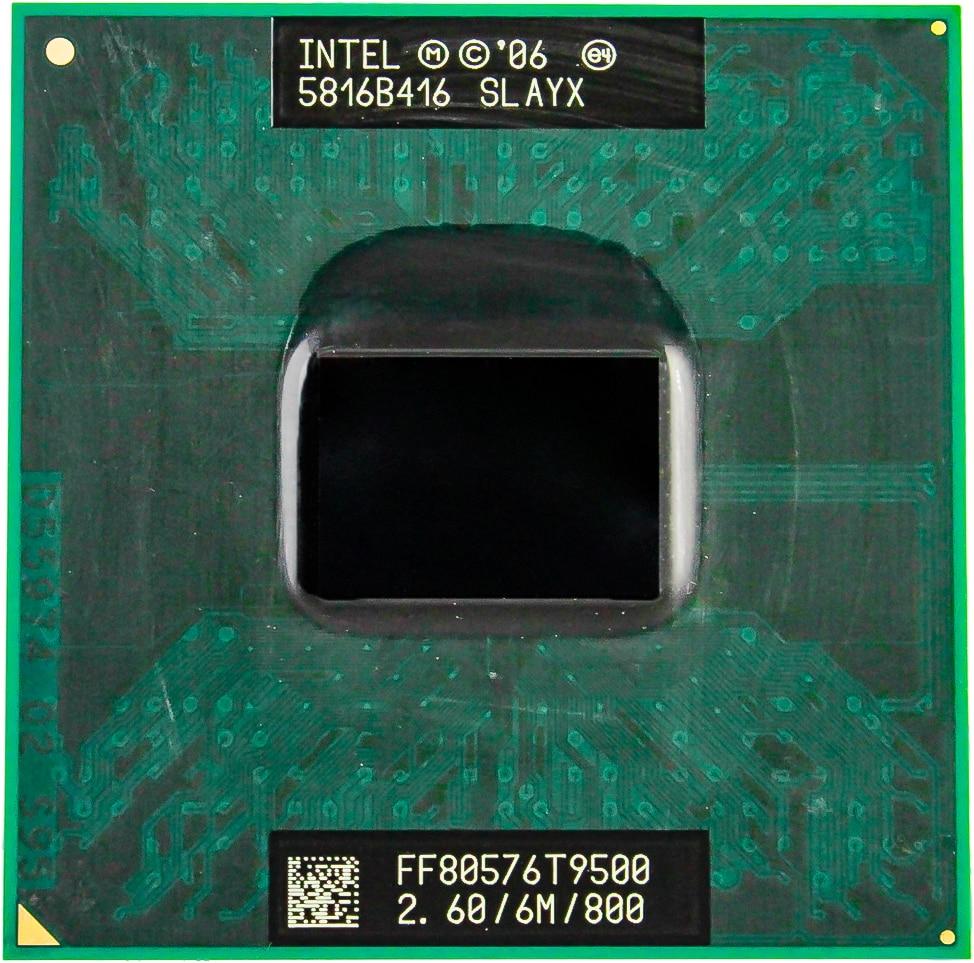 CPU laptop Core 2 Duo T9500 CPU 6M Cache 2 6GHz 800 Dual Core Socket 478