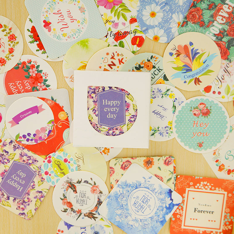 38 Pcs/box Flower Mini Sticker Set Decoration Decal DIY Album Diary Scrapbooking Sealing Sticker Kawaii Stationery