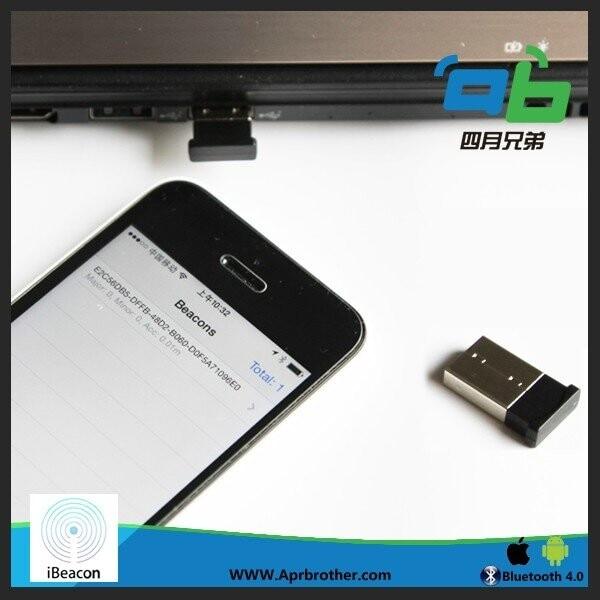 15m ibeacon Mini USB Eddystone Base Station Shake it Broadcast Indoor Location Smart Home Phone Beacon LBS IOS Android Blueteeth