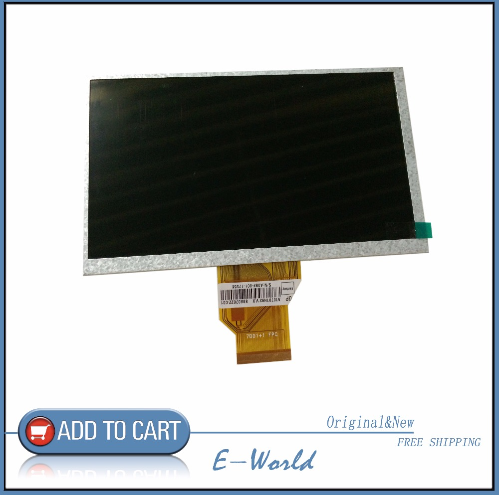 New 7 inch INNOLUX AT070TN92 V.X LCD Screen 7DD1+1 FPC 800*480 for Tablet Car DVD lcd Free shipping free shipping original new 7 inch lcd screen model m070wx04 bl v01 cable number m070wx01 fpc v06