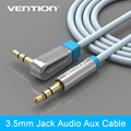 "Vention 3.5mm Aux Cable Jack to Jack Gold Plated 90 Degree  Right Angle  Audio Cable for Car  for iphone  beats"" headphone"