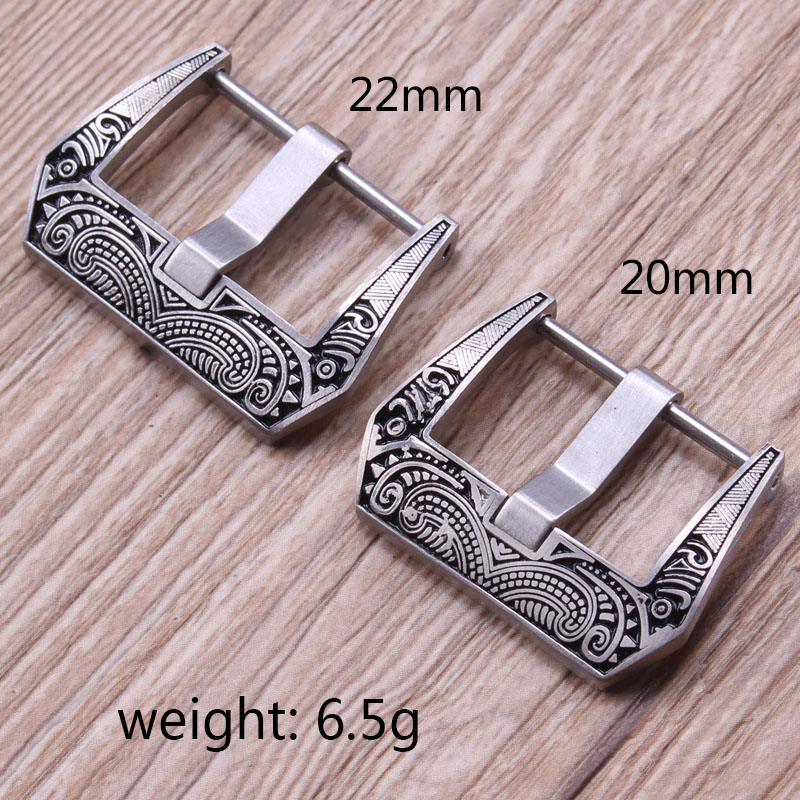 HENGRC Retro Watch Band Buckle Wholesale 5pcs/Set 316L Stainless Steel Metal Watch Strap Clasp For Panerai Watchbands high quality lowest price wholesale kz 19 pneumatic combination steel metal strapping packing machine for 19mm steel strap tape