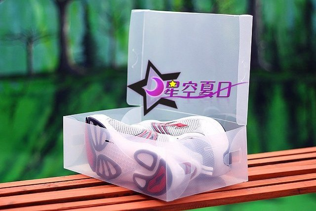 High quality Free shipping wholesale Transparent shoe box storage boxes 50pcs/lot