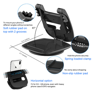 Image 3 - Phone Car Dashboard Holder 360 Rotate Non Slip Sticky Gel Pad Washable Car Mount Bracket For iPhone XS Max Samsung S10 Note9 GPS