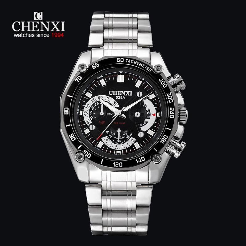 Prix pour CHENXI Hommes Sport Montre Étanche Marque De Luxe Montre-Bracelet Hommes Bracelet En Acier Inoxydable Quartz Montres Fashion Business Robe Reloj