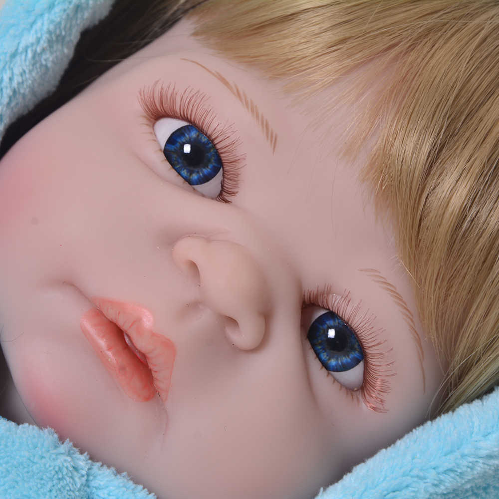 Пупсик 23 ''реалистичный Возрожденный силикон кукла 57 см Полный винил реалистичный ребенок Reborn Menino с золотыми волосами ребенок играть игрушки подарки