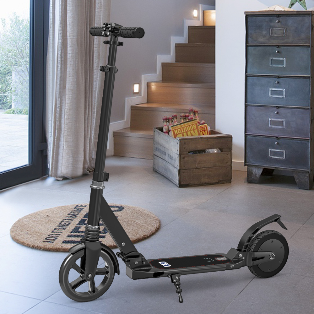 EBIKE portatile pieghevole bici elettrica 8IN Scooter Elettrico Pieghevole Pendolarismo Scooter e bici 220LB Capacità Portante per Adulti
