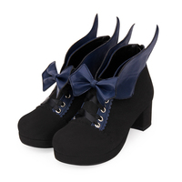 Fashion Spring Women's High heel Lolita Shoes Female Anime Gothic Casual Angel wings Muffin Sandals Single Shoes