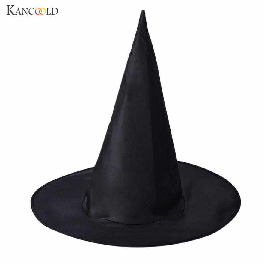 1 قطع الكبار إمرأة بارد الأسود ساحرة قبعة ل هالوين زي التبعي أسود هالوين قبعة الدعائم القبعات للجنسين SE073