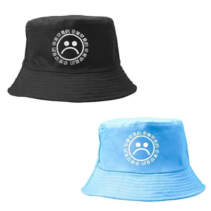Nuevo Flat Fishman sombrero del cubo del negro del Vintage del verano  sombrero muchachos tristes hombres a4130915f12