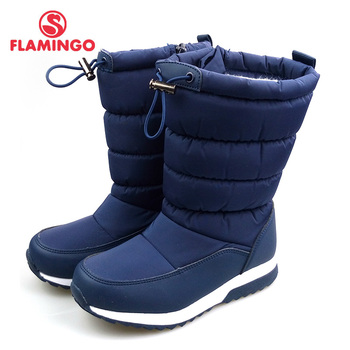 FLAMINGO Waterproof Wool Keep Warm Winter High Quality Shoes Anti-slip Children Snow Boots for Boy Free Shipping 82D-NQ-1038