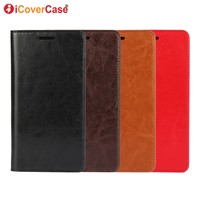 Luxury Leather Wallet For Xiaomi Note 2 Cover Case Flip Crazy Horse Genuine Leather Cases For