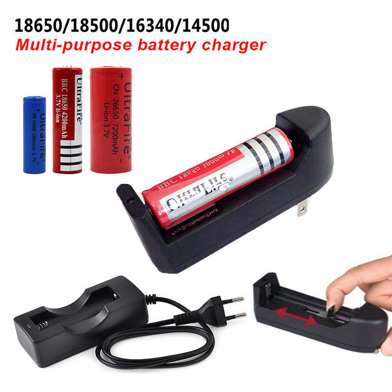Smart Battery Charger For 18650/18500/16340/14500 Battery Rechargeable Multifunction Portable Quick Charging Slot US EU Plug 0.2 eu us plug ac wall battery charger charging and adapter for 18650 18500 18350 16340 14500 3 7v rechargeable li ion batteries