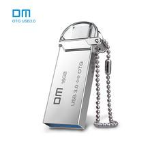 Бесплатная доставка DM PD009 16 г USB3.0 с двойной разъем используется для OTG Смартфон и компьютер 100% водонепроницаемый металлический материал