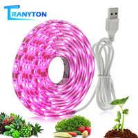 Volle Geführte spektrum Wachsen Lampe USB LED Anlage Wachsen Streifen 2835 SMD 0,5 m 1m 2m Fitolampy Wachsen lichter für Innen Pflanze Blume Sämling